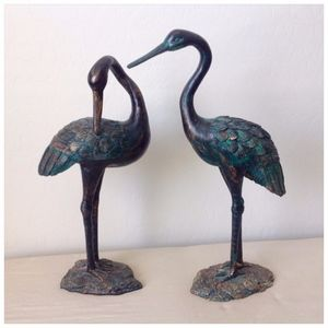 Other - Dark Green Bronze Set of Birds